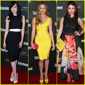 Ashley Rickards & Greer Grammer Get 'Awkward' at the Pre-Emmy Party!