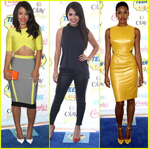 Cierra Ramirez & Kylie Bunbury Take Fashion To A Whole New Level at Teen Choice Awards 2014