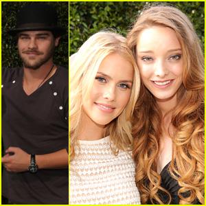 'Aquarius' Stars Claire Holt, Grey Damon, & Emma Dumont Buddy Up at NBC Pre-Emmys Bash