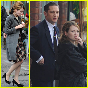 Emily Browning is One Plaid Beauty for 'Legend' London Filming