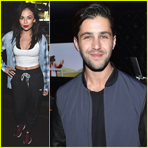 Janel Parrish & Josh Peck Get Silly With Their Significant Others at Justin Timberlake's Show