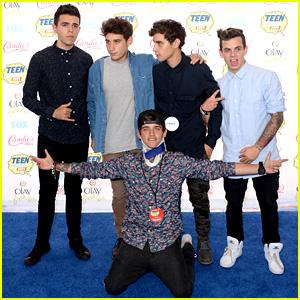 The Janoskians' Beau Brooks Takes a Tumble at the Teen Choice Awards 2014
