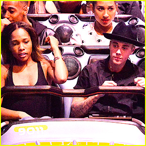 Justin Bieber Rides Space Mountain at Disneyland with Mystery Girl (Photos)