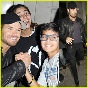 Kellan Lutz Shows His Fans Lots of Love in London!