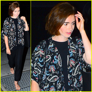 Lily Collins Says to 'Follow the Happiness'