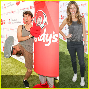 Max Schneider & Kayla Ewell Get Sporty at Kickball for a Home!