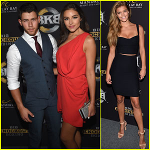 Nick Jonas & Olivia Culpo Strike a Pose at Big Knockout Boxing!