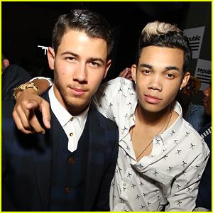 Nick Jonas Reunites with 'Camp Rock' Pal Roshon Fegan at VMAs After-Party