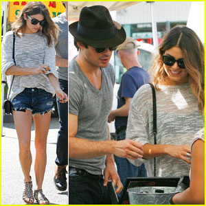 Ian Somerhalder & Nikki Reed Take Their Romance Back to the Farmers Market!