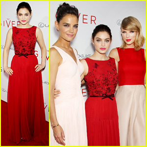 Odeya Rush is Strikingly Stunning in Red at 'The Giver' NYC Premiere