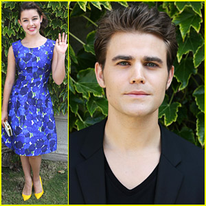 Paul Wesley & Fatima Ptacek Make Watery Arrival For Venice Film Festival