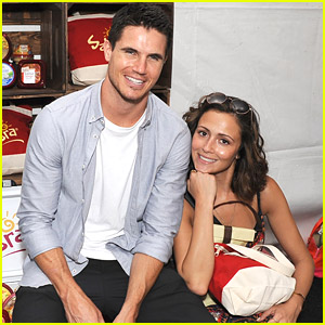 Robbie Amell & Italia Ricci 'Flip' Out at Backstage Creations Teen Choice Retreat