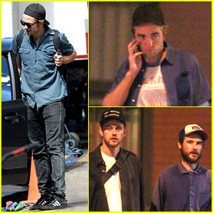 Robert Pattinson Hangs Out with Buddies Jamie Stracha