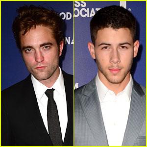 Robert Pattinson & Nick Jonas Dress to the Nines at HFPA Grants Banquet