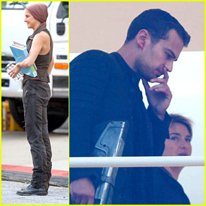 Shailene Woodley & Theo James Kick Off Week With 'Insurgent' Filming