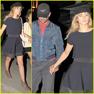 Suki Waterhouse & Boyfriend Bradley Cooper Heat It Up at Chiltern Firehouse