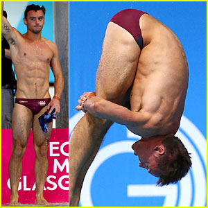 Tom Daley Rocks a Speedo While Winning Gold at Commonwealth Games!