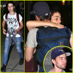 Reign's Adelaide Kane & Torrance Coombs Hug It Out at the Toronto Airport