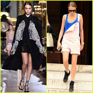 Cara Delevingne Is The Fiercest at Stella McCartney's Paris Fashion Show!