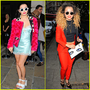 Charli XCX & Ella Eyre Show Off Thier Fashion at House of Holland!