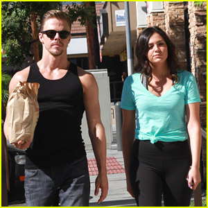 Bethany Mota & Derek Hough Pick Up Snacks Before DWTS Practice