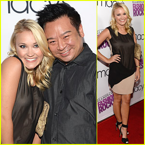 Emily Osment & Rex Lee Get 'Young & Hungry' at Glamorama Fashion Rocks Event
