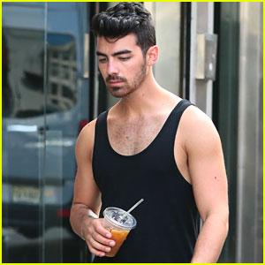Joe Jonas' Arms Look So Strong After a Workout!
