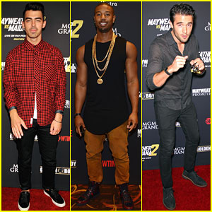 Joe Jonas & Michael B. Jordan Get Ready for a Fight in Las Vegas!