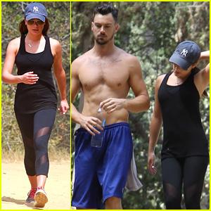 Lea Michele Hikes with Shirtless Boyfriend Matthew Paetz!