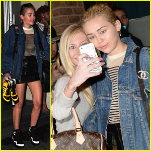 Miley Cyrus Takes Selfies with Fans Ahead of First-Ever 'Dirty Hippie' Art Show