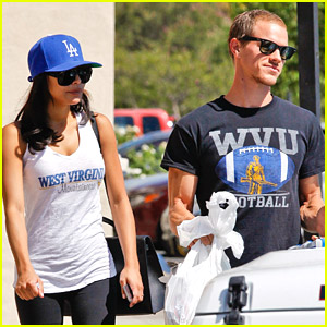 Naya Rivera & Husband Ryan Dorsey Root For WVU Mountaineers