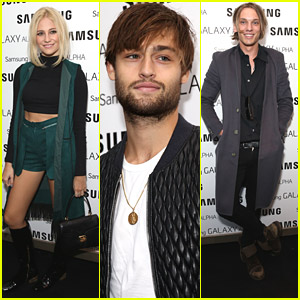 Pixie Lott Steps Out For Samsung Galaxy Alpha Launch with Douglas Booth & Jamie Campbell Bower
