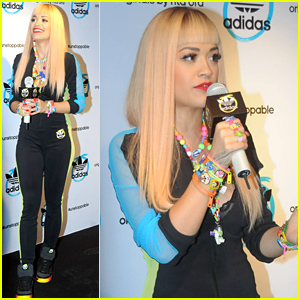 Rita Ora Thanks Her Fans For All of Their Support During Adidas Press