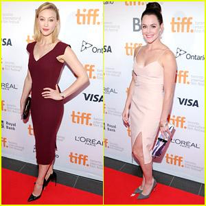 Sarah Gadon & Ice Dancer Tessa Virtue Hit Up TIFF Opening Gala