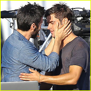 Zac Efron & Wes Bentley Get Wrapped Up In the Moment On 'We Are Your Friends'!