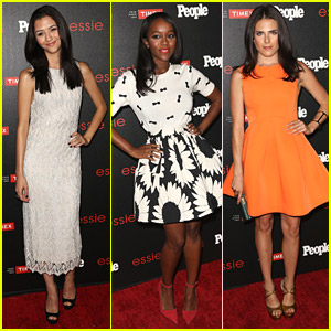 Katie Findlay & Aja Naomi King Step Out For People Mag Party After 'How To Get Away With Murder' Full Season Order
