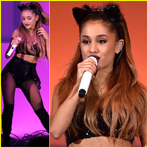 Ariana Grande Faces Some Wardrobe Problems at We Can Survive 2014