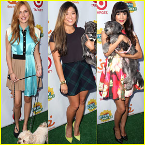 Bella Thorne & Jenna Ushkowitz Get Cozy with Puppies for Charity!