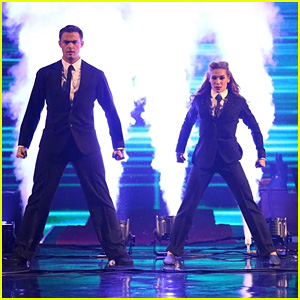 Jonathan Bennett & Allison Become the 'Men in Black' for 'DWTS' Jazz - See the Pics!