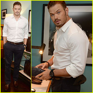 Kellan Lutz Parties With Tod's at JP Club