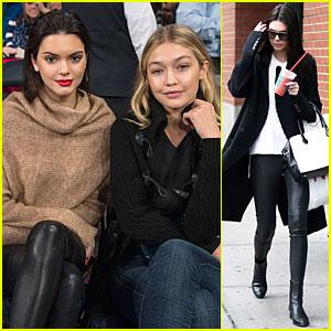 Kendall Jenner & Gigi Hadid Bring Beauty to Knicks Game