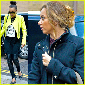 Little Mix Make A Fashionable Studio Arrival Together