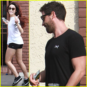Meryl Davis & Maksim Chmerkovskiy Stop By Dance Studio After Dinner With Janel Parrish & Val Chmerkovskiy