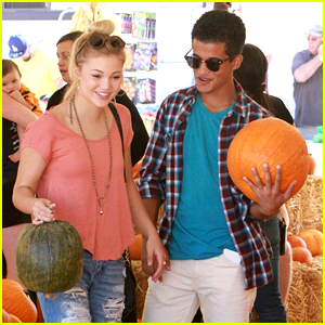 Olivia Holt & Jordan Fisher Are Pumpkin Pickers