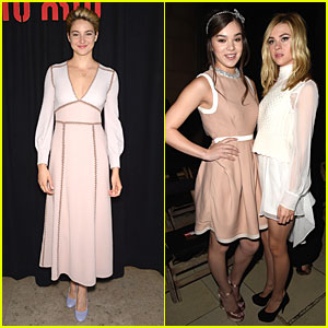 Shailene Woodley & Hailee Steinfeld Bring Young Hollywood to Miu Miu Fashion Show