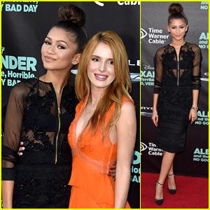 Zendaya Supports BFF Bella Thorne at 'Alexander' Premiere