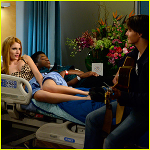Bella Thorne Rocks Sexy Leopard Top in These Exclusive 'Red Band Society' Stills