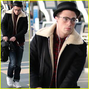 Colton Haynes Is Looking Very Cute Wearing His Eyeglasses