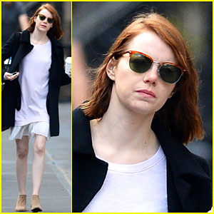 Emma Stone Rocks Bare Legs on a Cold NYC Day