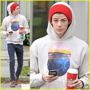 Grant Gustin Gets Starbucks To Go